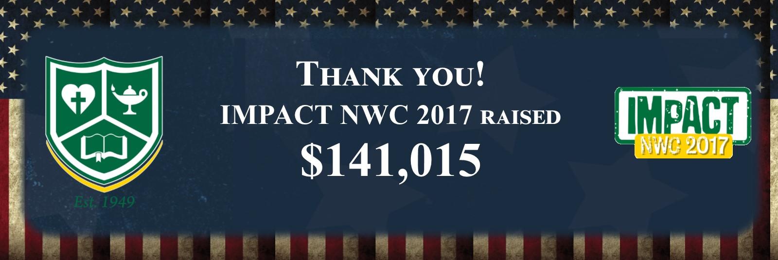 IMPACT 2017 Funds Raised
