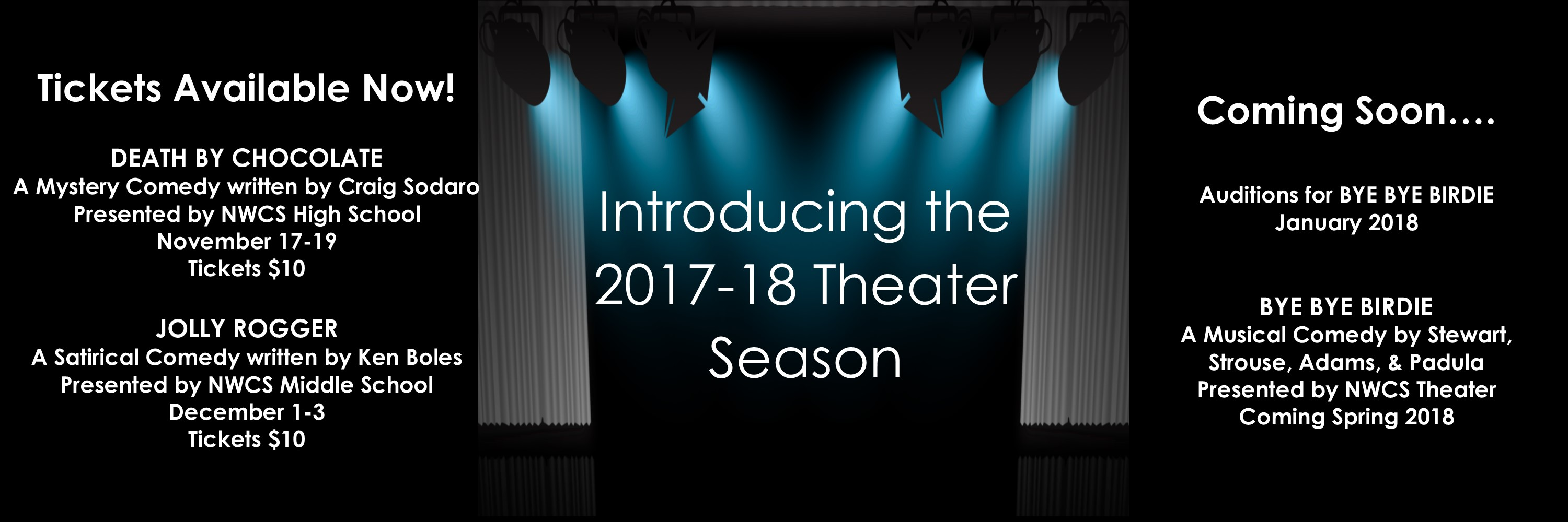 2017 Fall Theater Productions